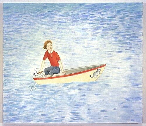 Vivienne Shark LeWitt Evinrude, 2001; oil on linen; 97 x 112 cm; enquire