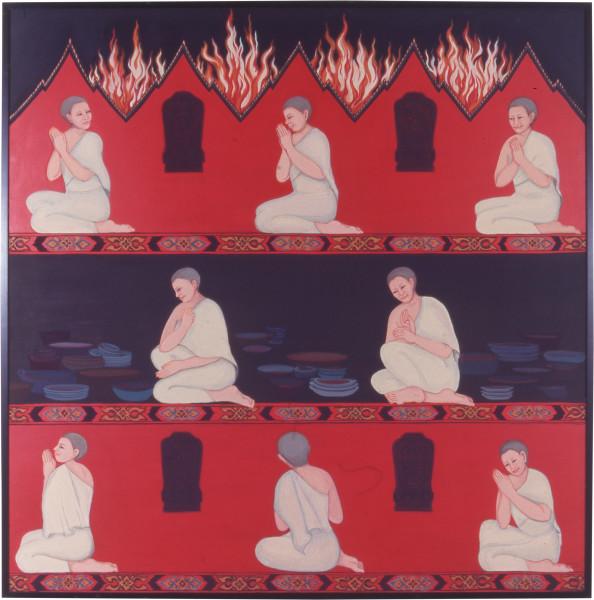 Phaptawan Suwannakudt My Mother was a Nun I, 1998; acrylic on canvas; 120 x 120 cm; enquire