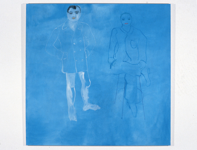 Angela Brennan Vis a vis Geoff Lowe and Tony Clark, 1994; oil on canvas; 168 x 168 cm; enquire
