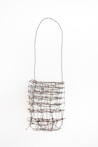 Lorraine Connelly-Northey Narrbong, 2019; CONNL - 0015; galvanised ringlock fencing wire; 185 x 65 x 14 cm; Enquire