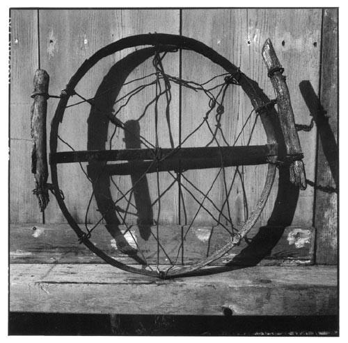 Bill Culbert Barrel hoop, wire, handles, 2002; Edition of 25; enquire