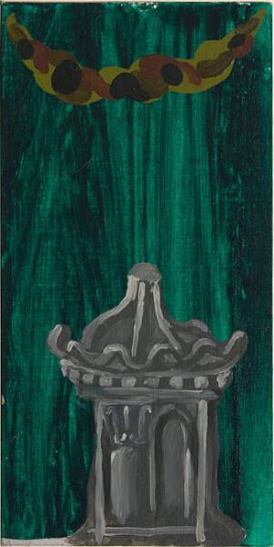 Tony Clark Chinoisiere Landscape, 1987; oil on canvas board; 40 x 20 cm; enquire