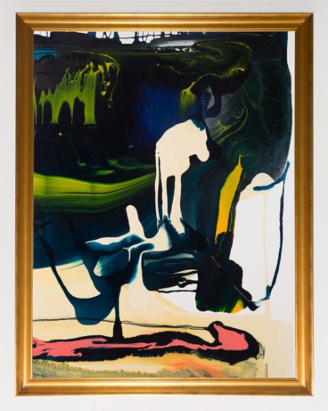 Dale Frank Feline Flu, 2013; varnish on canvas; 160 x 120 cm; (unframed); enquire