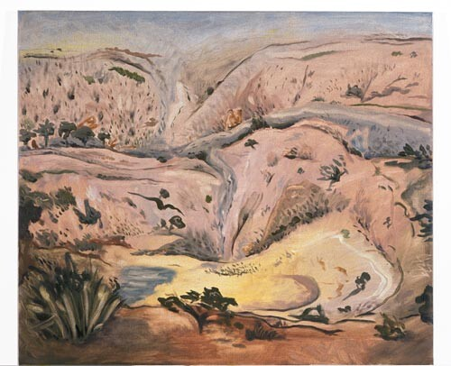 Linda Marrinon Hume Quarry After Rain, 1996; Oil on canvas; 71 x 61 cm; enquire
