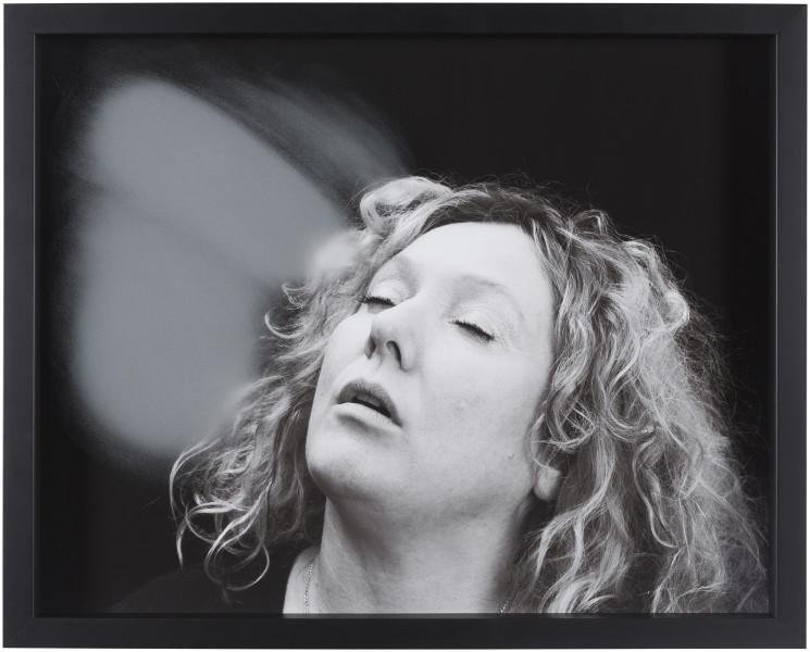 Julie Rrap Blow Back #17, 2018; digital print and handground glass; 52 x 64 cm; Edition of 3 + AP 1; enquire