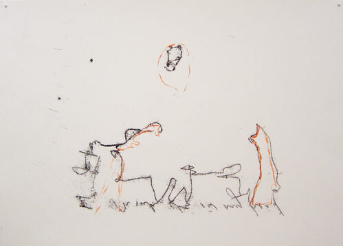Tracey Emin I think it was in my head, 2003; black and red ink on paper; 42 x 60 cm; enquire
