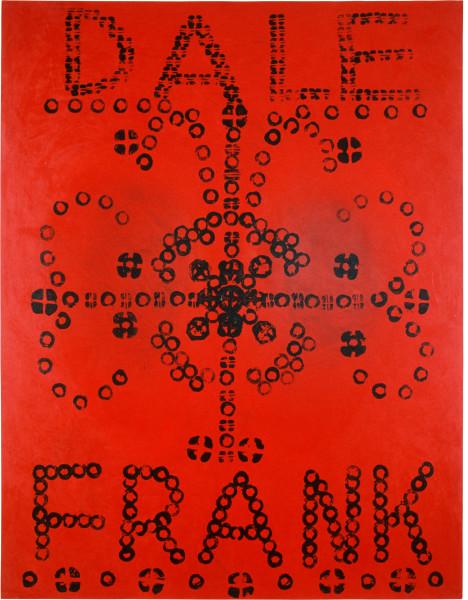 Dale Frank Surelytoodoo, 1990; acrylic potato print on canvas; 230 x 180 cm; enquire