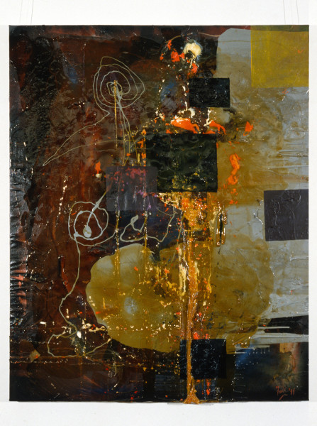 Dale Frank Elwyn's Problem, 1989; oil and resin on canvas; 150 x 120 cm; enquire