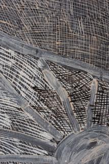 Nyapanyapa Yunupingu Ganyu (detail), 2019; 4746-19; natural earth pigments on board; 240 x 111.5 cm; enquire