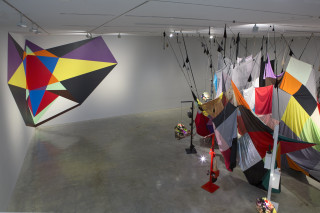installation view; Mikala Dwyer Spell for a corner, 2015; synthetic polymer paint on wall; dimensions variable; enquire