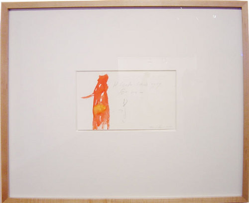 Tracey Emin He looks too Ugly for me, 2000; watercolour and pencil on paper; 13 x 20.5 cm; 45 x 52 cm (frame); enquire