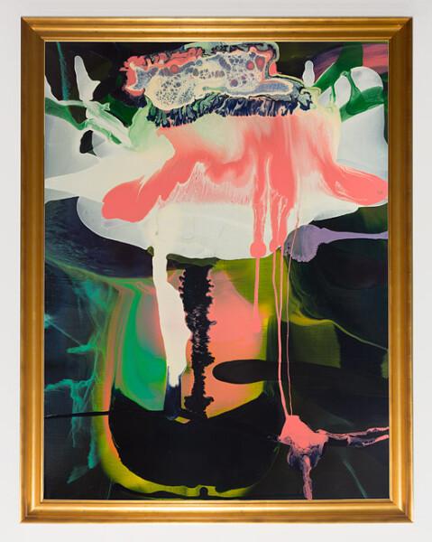 Dale Frank Cod Flu, 2013; varnish on canvas; 160 x 120 cm; enquire