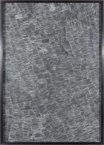 Nyapanyapa Yunupingu Untitled, 2012; 4305Q - AC 6.12 Birrka'mirri; paint pen on clear acetate plastic; 86 x 62 cm; enquire