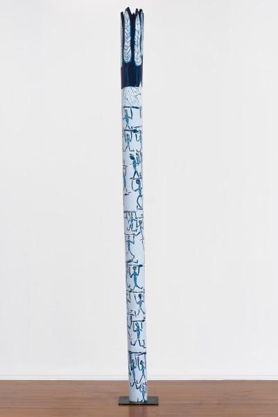 Dhambit Munuŋgurr Banumbirr, 2021; 539-21; acrylic on eucalyptus; 395 x 25 x 25 cm; enquire