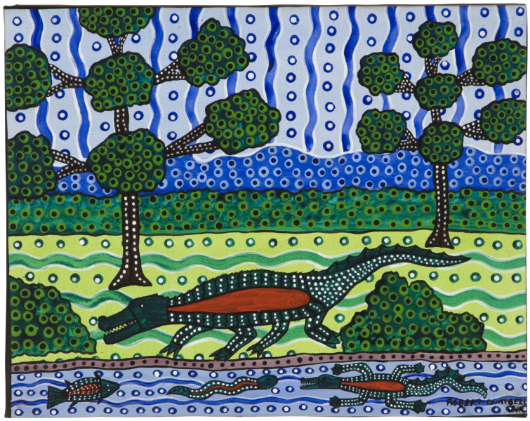 Robert Campbell Jnr Crocodile, 1989; acrylic on canvas; 45 x 57 cm; enquire