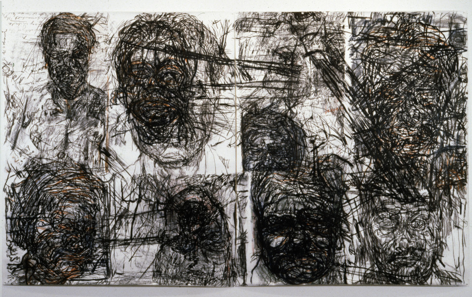 Mike Parr Swine Fever, 1987; Girault pastel & charcoal on Tamaroll paper; 243 x 408 cm; enquire