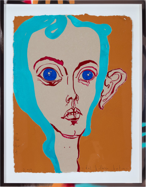 Del Kathryn Barton in the stir of..., 2019; gouache on paper, hand finished frame; 87 x 67.5 cm; Enquire