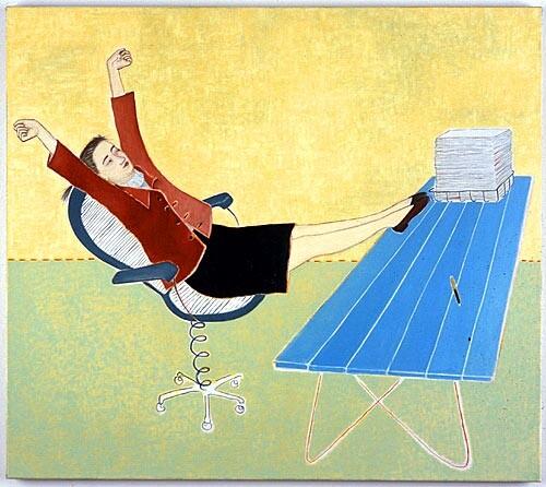 Vivienne Shark LeWitt Finished, 2001; oil on linen; 81 x 92 cm; enquire