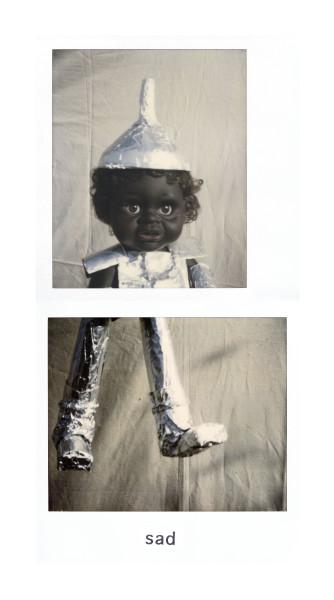 Destiny Deacon Sad, 1998-03; light jet print from Polaroid original; 200 x 100 cm; Edition of 15; enquire