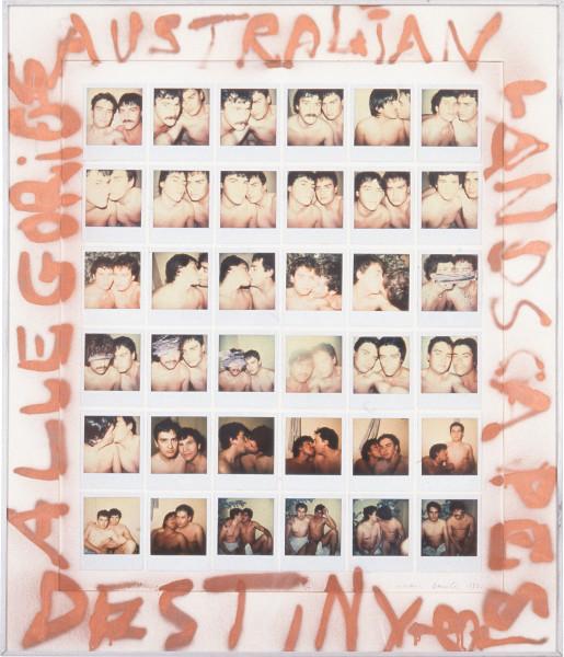 Juan Davila Australian landscapes, 1982; polaroid photographs and synthetic polymer paint on cardboard; 91 x 79 cm; enquire