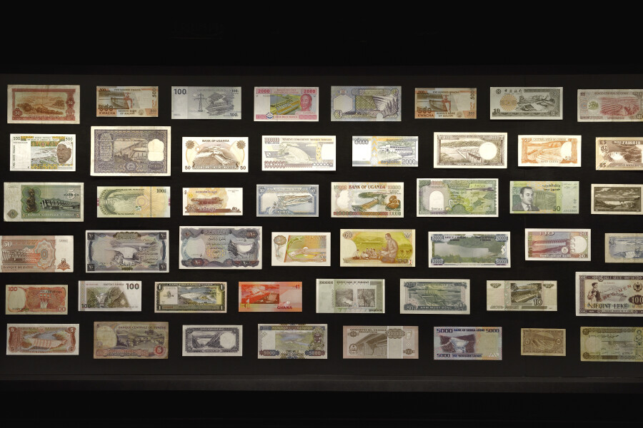 Fiona Hall Triumph of the damned, 2014-15; collection of bank notes; dimensions variable; enquire