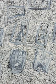 Nyapanyapa Yunupingu Djidni (Sydney), 2016; 4937S; Painting on board; 191 x 121 cm; enquire
