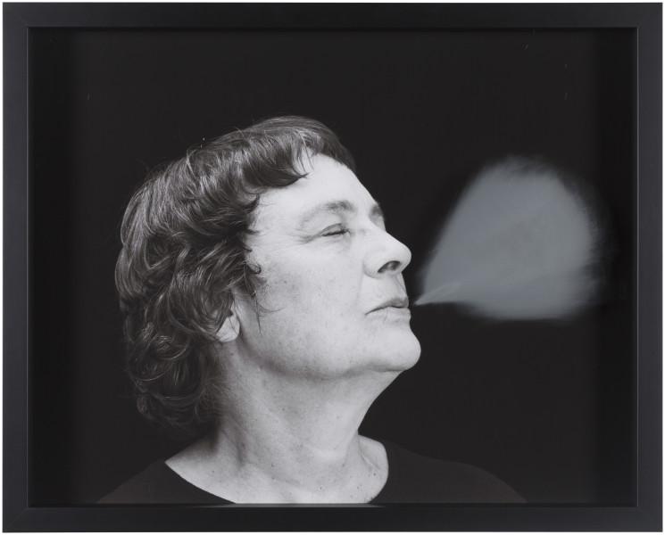 Julie Rrap Blow Back #15, 2018; digital print and handground glass; 52 x 64 cm; Edition of 3 + AP 1; enquire