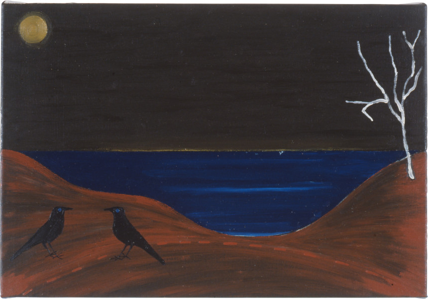 Fiona Foley Thoorgine Country IV, 1991; oil on canvas; 26 x 38.5 cm; enquire