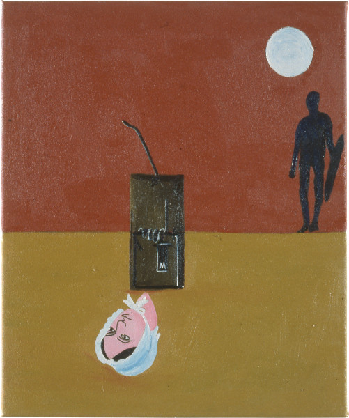 Fiona Foley Eliza Heads For Trouble III, 1990; oil on canvas; 37 x 30 cm; enquire