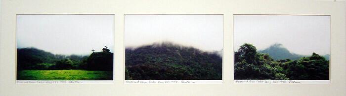 Destiny Deacon Postcard from Cedar Bay 1, 2 & 3, 1998; 3 colour laser prints; 21 x 29.7 cm; Edition of 15; enquire