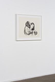 installation view; Patricia Piccinini Entwined Affection, 2020; graphite on paper; 57 x 76 cm; 72.5 x 91 cm (framed); enquire