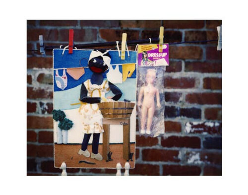 Destiny Deacon Hanging out, 1995-03; light jet print from Polaroid original; 80 x 100 cm; Edition of 15; enquire
