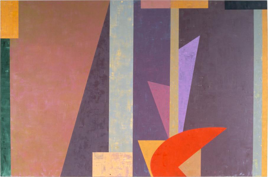 Robert Jacks Past Unfolded, 1986; oil on linen; 168 x 251 cm; enquire