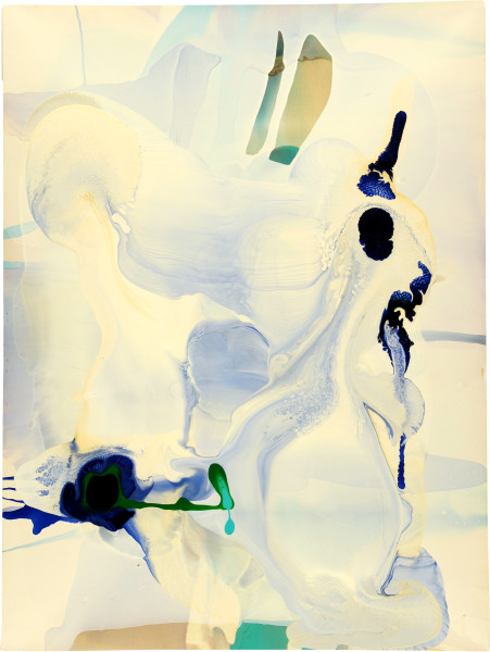 Dale Frank 24. The Palladian balance and harmony he had long desired in ever aspect of his Art and his life had manifest only anarchy. Surely he thought that was a sign of his own genius., 2009; varnish on canvas; 120 x 160 cm; enquire