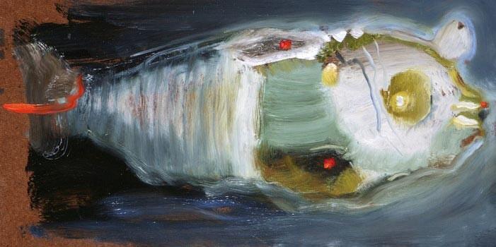 Louise Hearman Untitled #1132, 2005; oil on masonite; 20 x 39 cm; enquire
