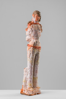 Linda Marrinon The cane collector, 2020; terracotta, plaster and hessian; 74 x 18 x 14 cm; enquire