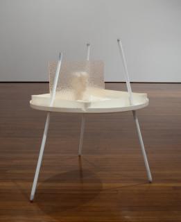 Hany Armanious Quicksand court, 2011; pigment polyurethane resin, porcelain, aluminium, steel; 120 x 115 x 100 cm; enquire