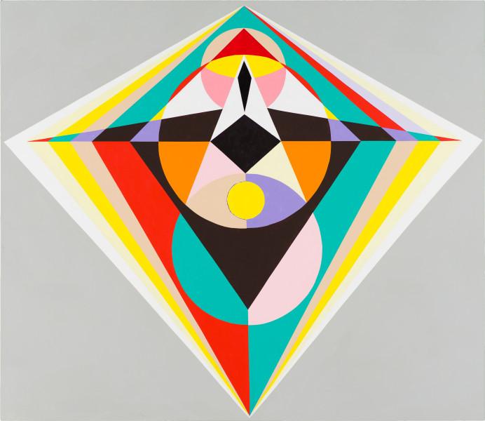 Mikala Dwyer 1, 2021; acrylic on canvas; 198.5 x 229 cm; enquire