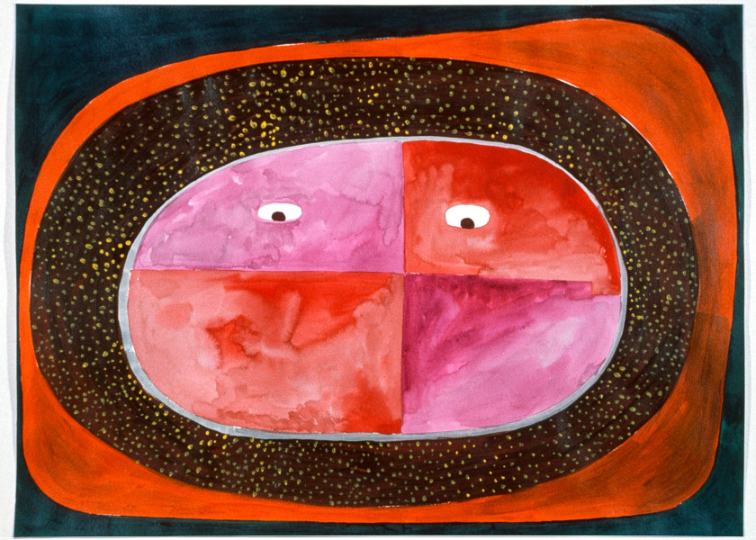 Gareth Sansom Face 2, 1989; acrylic and watercolour on paper; 56 x 76 cm; enquire