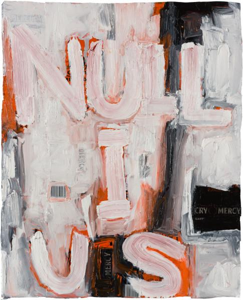 Fiona Hall nullius (I), 2020; oil paint on aluminium drink cans; 61 x 49 cm; enquire