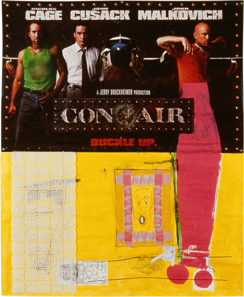 Dale Frank Con Air, 1997; paint, paper and mixed media on paper and printed vinyl; 230 x 186 cm; enquire