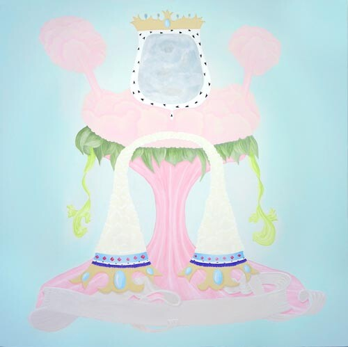 Michelle Hanlin Coat of Arms (The Great Frog), 2005; acrylic on canvas; 100 x 100 cm; enquire