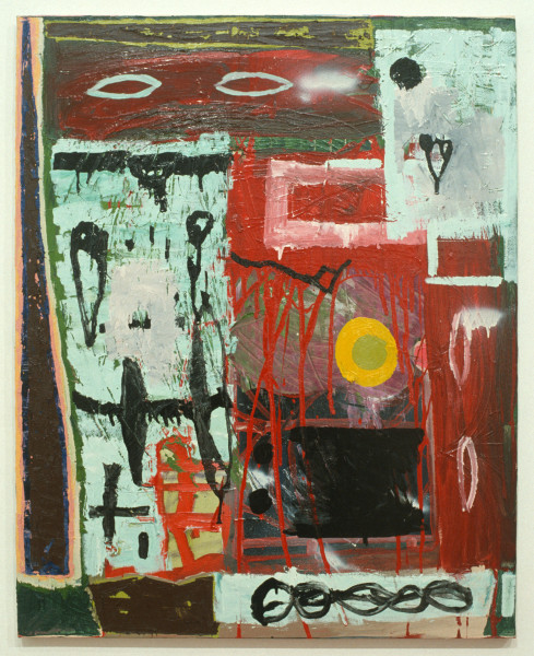 Gareth Sansom Layers, 1991; mixed media on cotton duck; 76 x 61 cm; enquire