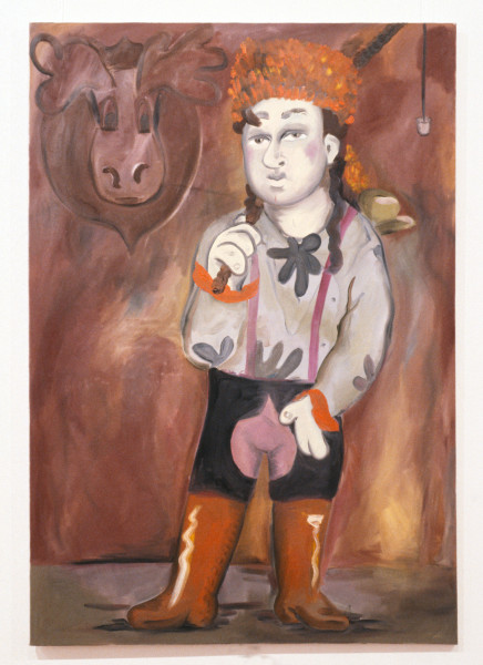 Linda Marrinon A Hunter, 1990; oil on canvas; 153 x 107 cm; enquire
