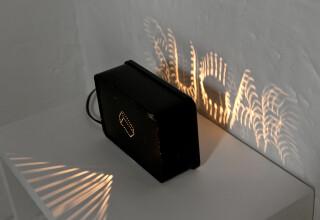 Bill Culbert Sugar Box, 1992; metal box, incandescent light globe; 13 x 19.5 x 7 cm; enquire