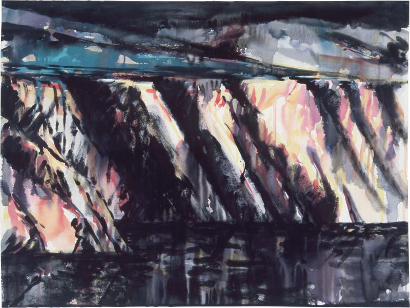 Mandy Martin Drawing for Coastal Landscape 2, 1985; pigment, enamel paint on arches paper; 56.5 x 75.6 cm; enquire