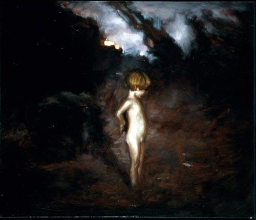 Louise Hearman Untitled #420, 1995; oil on masonite; 46 x 54 cm; enquire