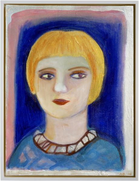Angela Brennan Portrait of a boy, 2006; acrylic on canvas board; 40.5 x 30.5cm (unframed), 43 x 33cm (framed); enquire