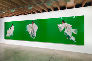 installation view; Isaac Julien Green Screen Goddess Triptych (Ten Thousand Waves), 2010; from the series Sydney Contemporary 2018; Endura Ultra photograph; 3 parts: 180 x 240 each (overall dimensions approx. 180 x 720 cm); Edition of 6 + AP 1; enquire