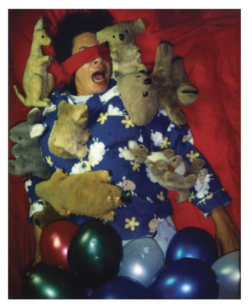 Destiny Deacon Slumber party A, 2006; lightjet print from Polaroid original; 100 x 80 cm; Edition of 8 + 2 APs; enquire